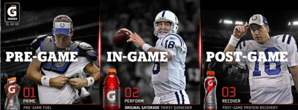 peyton manning gatorade commercial essay Gatorade has always used athletes as spokespeople, but  but do these guys belong in the same commercial  and peyton manning,.