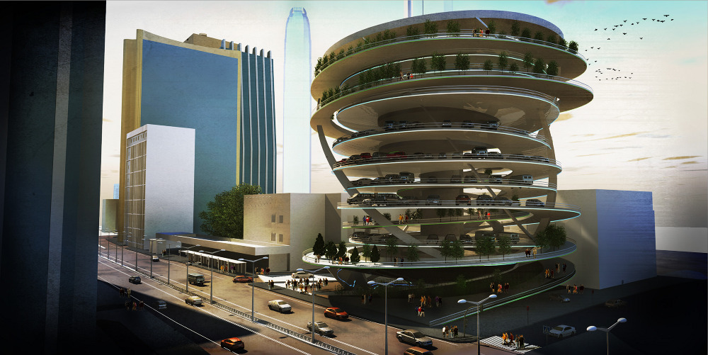 The interlocking carpark brunodacosta for Interlocking architecture concept
