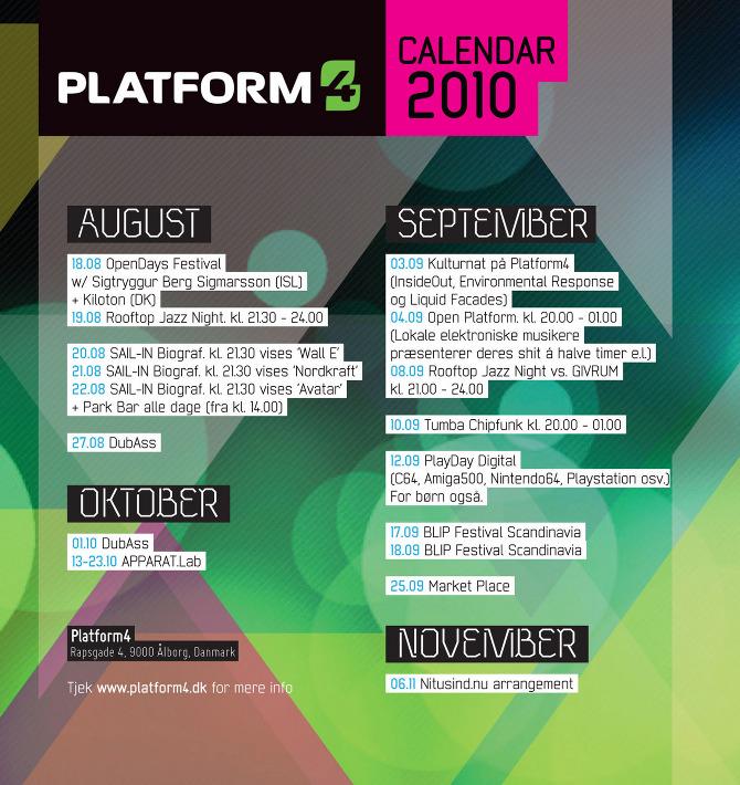 Calendar Of Events Design : Platform calendar cynic design visuals static