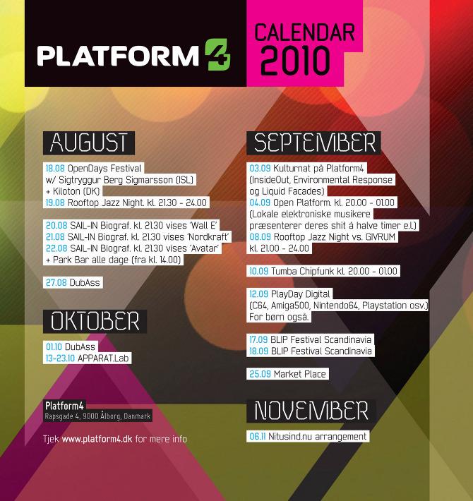 Platform4 calendar 2010 - cynic design : visuals_static & in motion