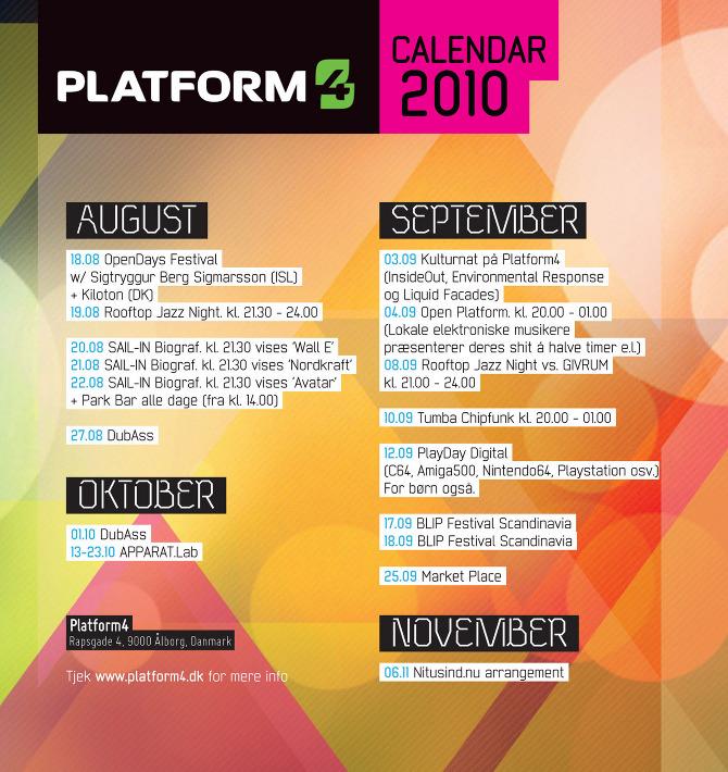 Calendar Event Design : Platform calendar cynic design visuals static